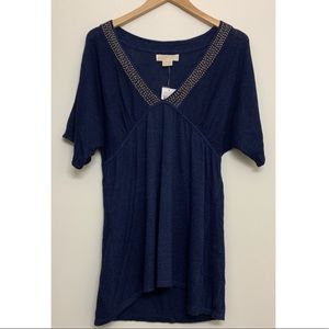 Michael Kors Navy embellished tunic size medium